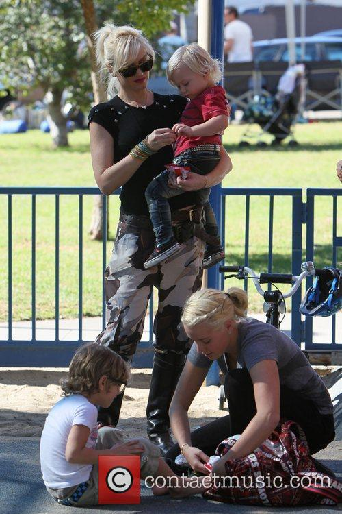 Gwen Stefani takes sons Zuma and Kingston to...