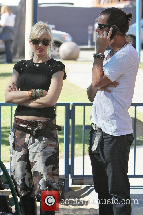 Gwen Stefani and Gavin Rossdale on a family...