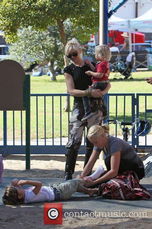 Gwen Stefani takes her sons Zuma and Kingston...