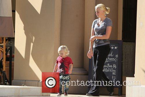 Zuma Rossdale seen leaving Bouchon restaurant in Beverly...