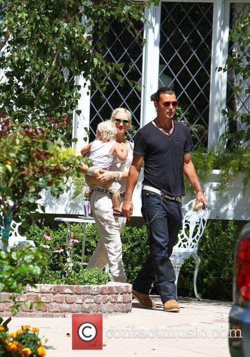 Gwen Stefani and Gavin Rossdale seen out walking...