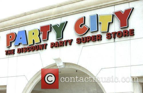 Exterior of Party City shop in Hollywood