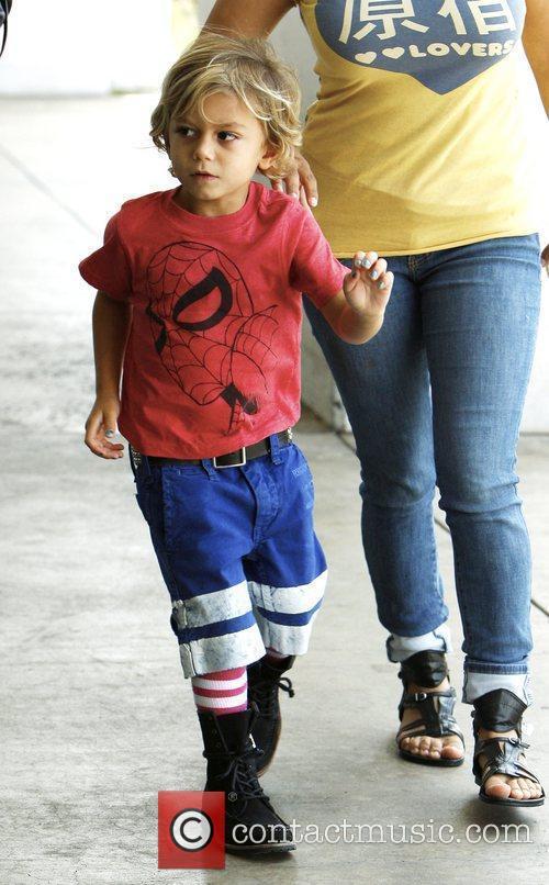 Gwen Stefani's son, Kingston Rossdale shopping at Party...