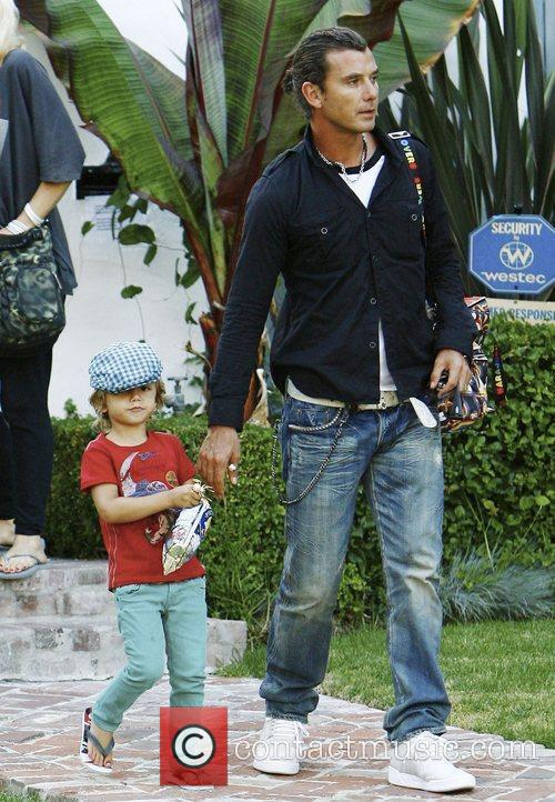 Gavin Rossdale, his eldest son Kingston visit family and friends in Beverly Hills 1