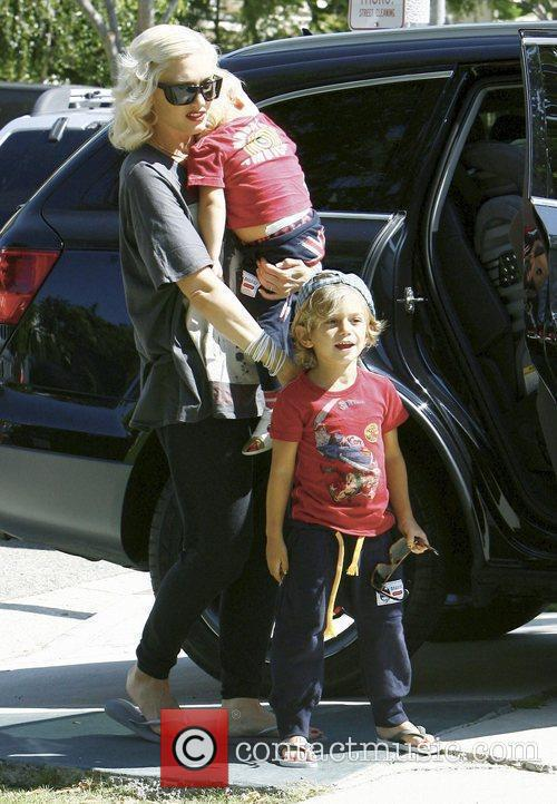Gwen Stefani, Her Sons Kingston, Zuma Visit Family and Friends In Beverly Hills 10