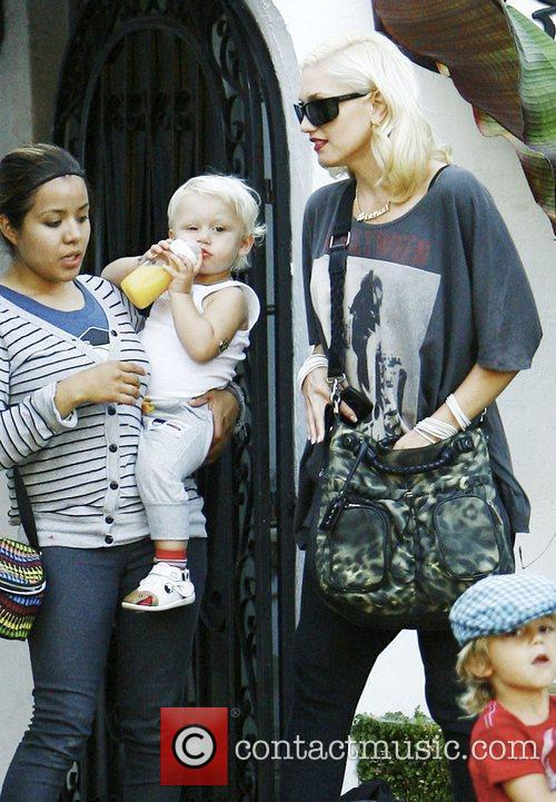 Gwen Stefani, Kingston, Zuma Rossdale Visit Family and Friends In Beverly Hills 4