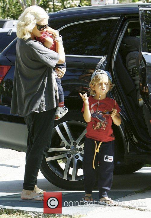 Gwen Stefani, Her Sons Kingston, Zuma Visit Family and Friends In Beverly Hills 11