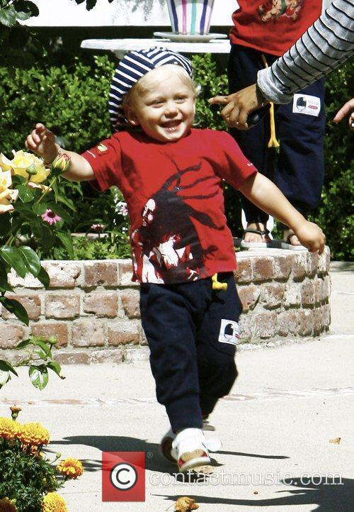 Zuma Rossdale visits family and friends in Beverly...