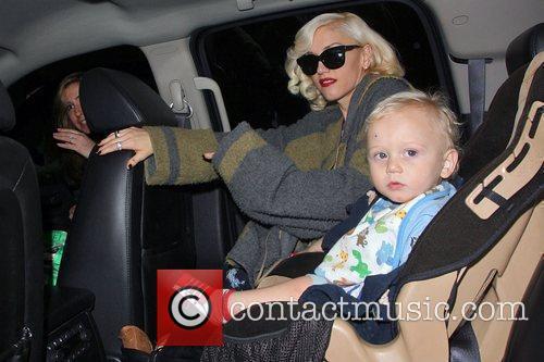 Gwen Stefani and son Zuma arrive at LAX...