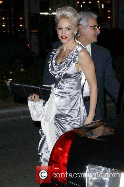Gwen Stefani arrives at a party in Beverly...