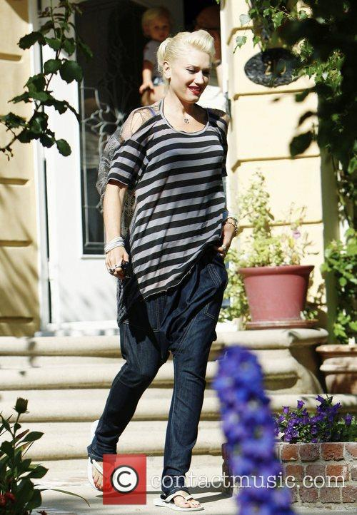 Gwen Stefani outside her parents home in Los...
