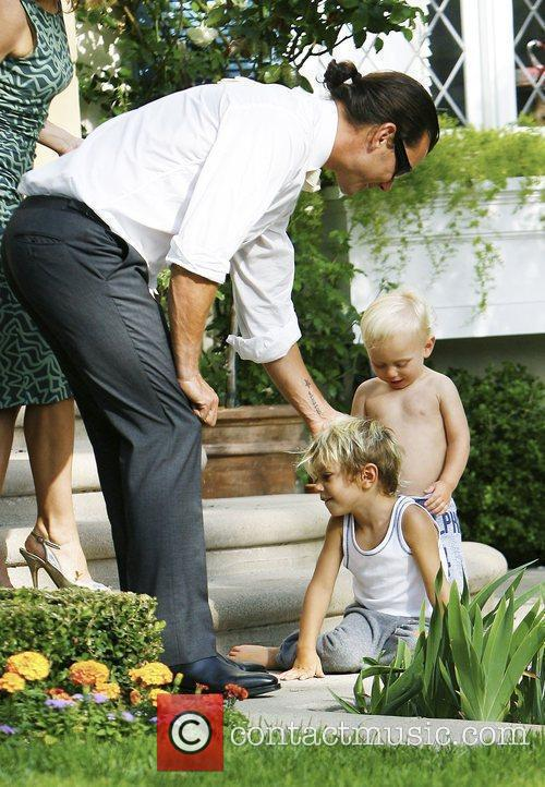 Gavin Rossdale with sons Kingston Rossdale and Zuma...