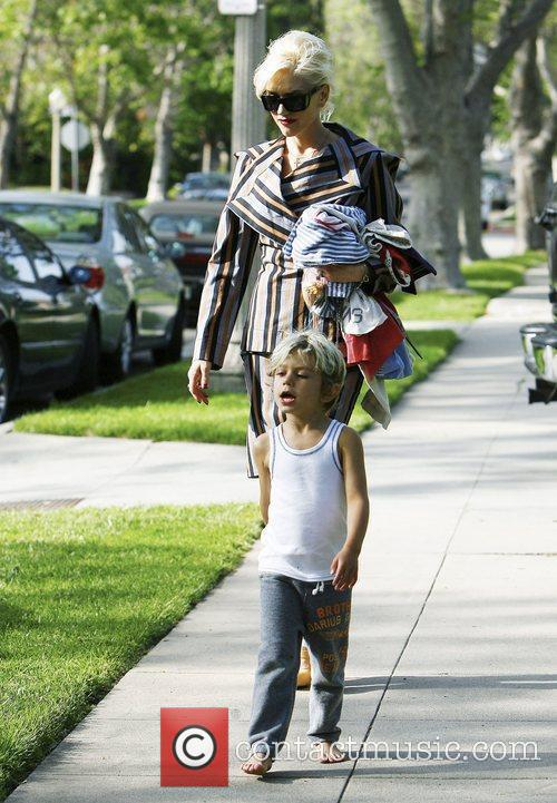 Gwen Stefani, with son Kingston Rossdale, at her...