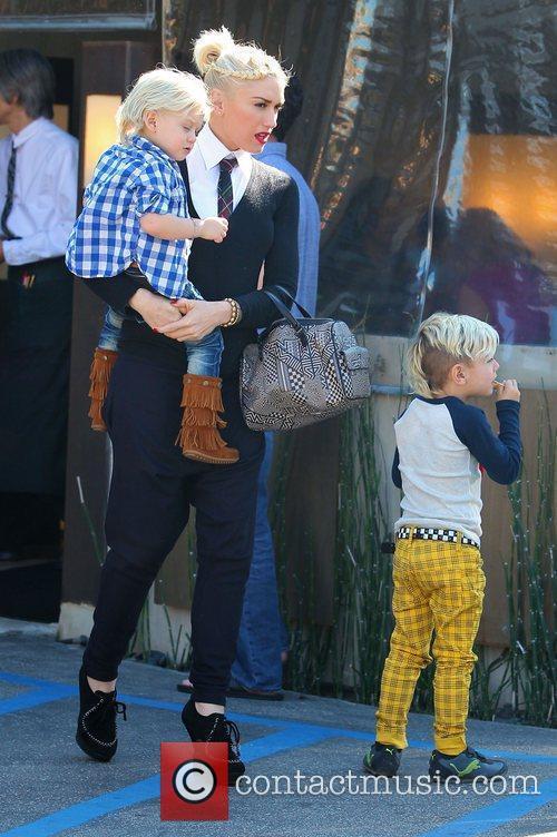 Gwen Stefani leaving a restaurant in Studio City...