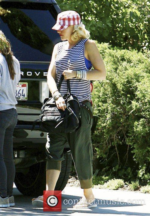 Gwen Stefani attends a friends birthday party in...