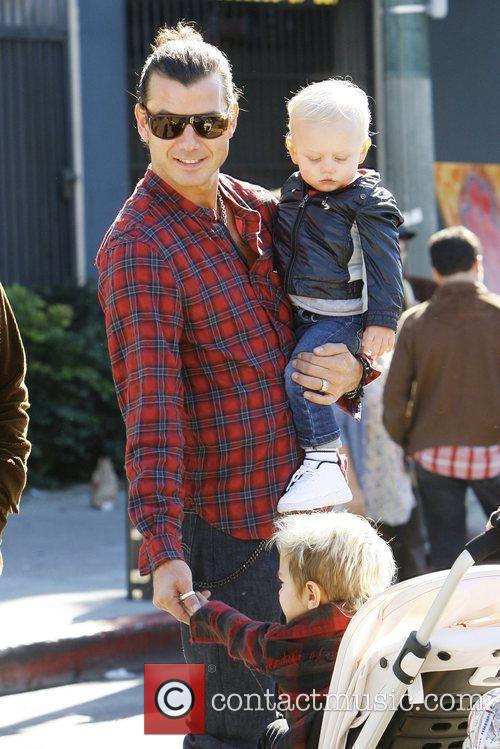 Gavin Rossdale with sons Zuma Nesta Rock and...