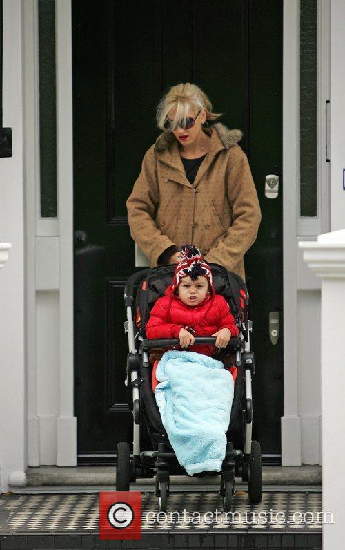 Gwen Stefani and her son Kingston Rossdale arrive...