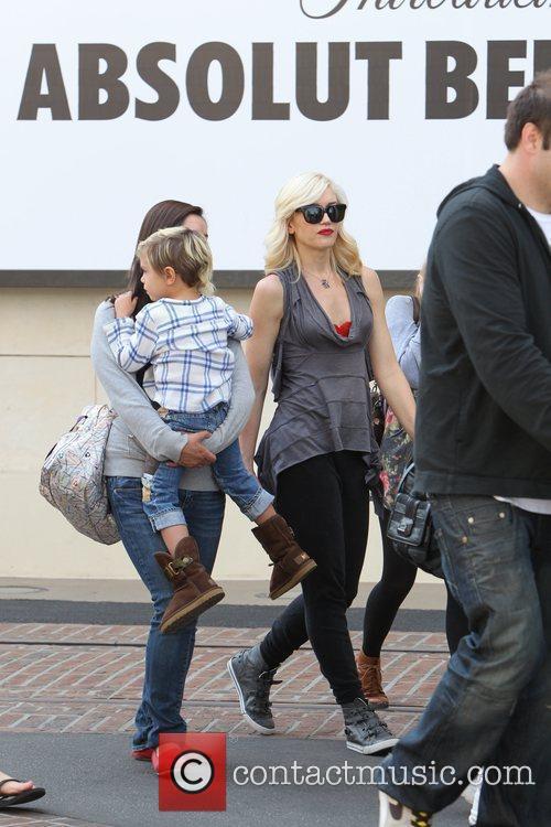 Kingston Rossdale and Gwen Stefani Gwen Stefani shopping...