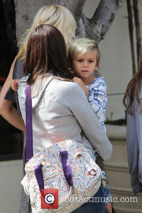 Kingston Rossdale out with his mother and family...