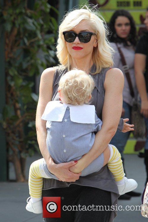 Zuma Rossdale and Gwen Stefani Gwen Stefani shopping...