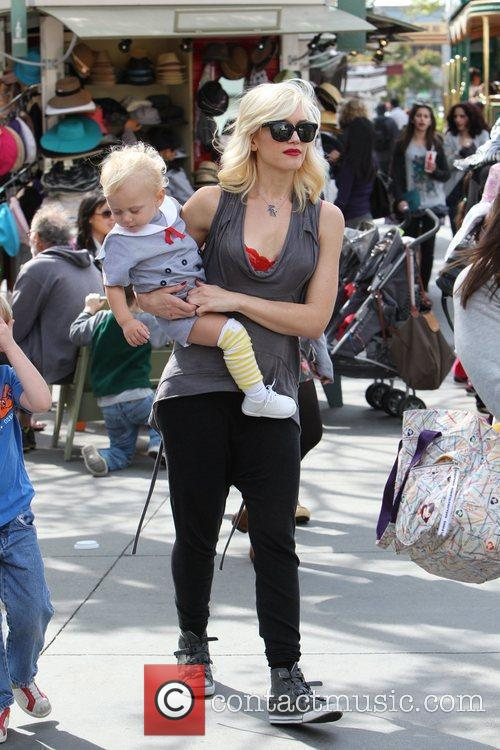 Gwen Stefani shopping with her family at The...