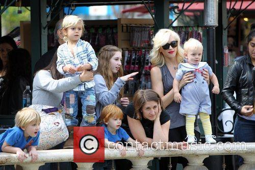 Kingston Rossdale, Gwen Stefani and Zuma Rossdale Gwen...