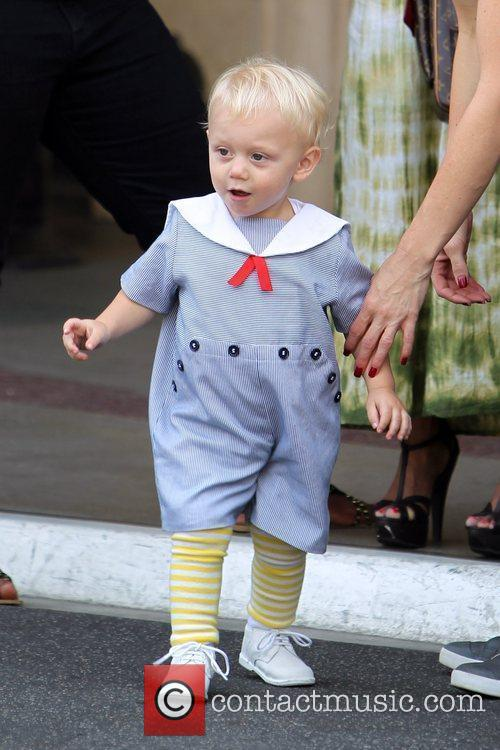 Zuma Rossdale Gwen Stefani shopping with her family...
