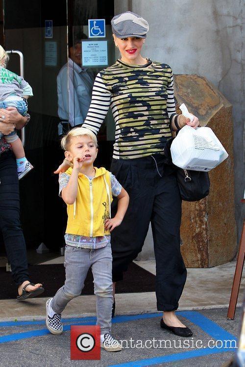 Gwen Stefani and Kingston Rossdale is seen leaving...