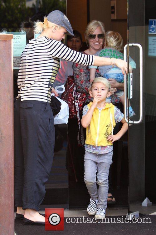 Gwen Stefani is seen leaving Katsuya in Studio...