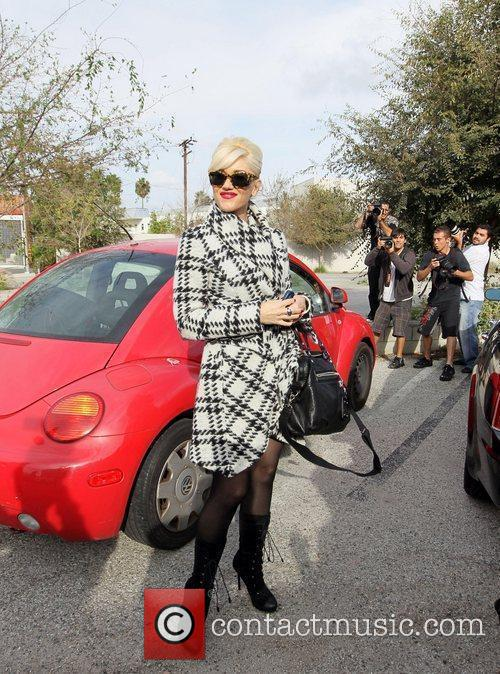 Gwen Stefani makes her way back to her...