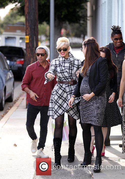 Tony Kanal and Gwen Stefani leaving a baby...