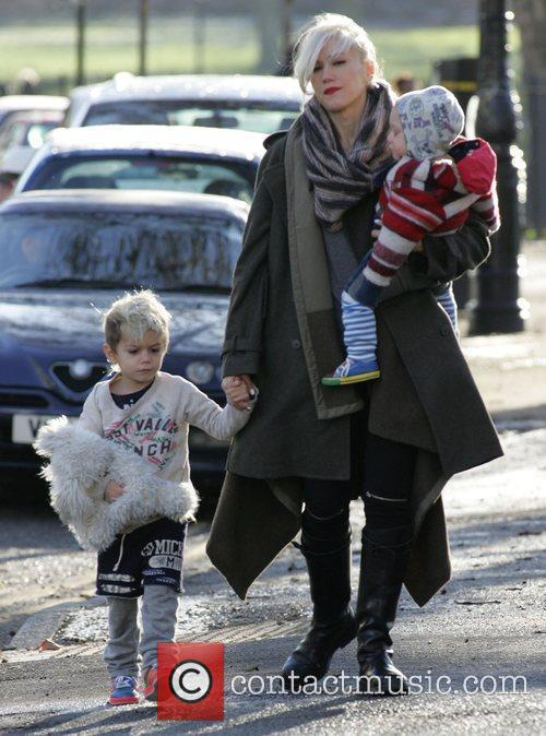 Gwen Stefani and sons Zuma and Kingston out...
