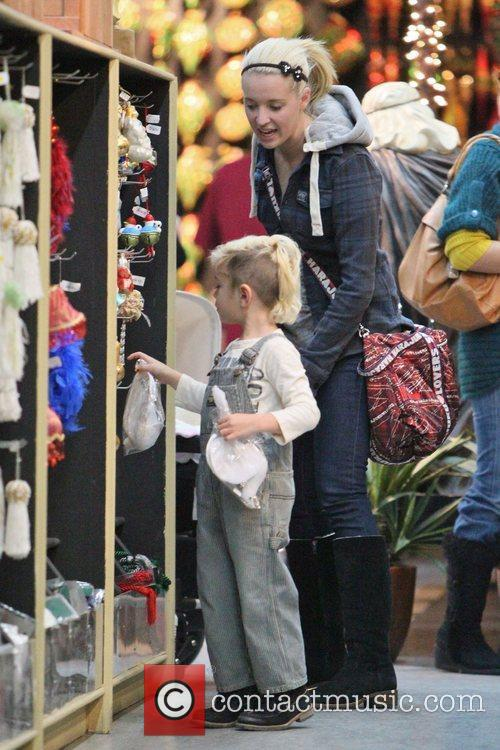 Gwen Stefani and her eldest son, Kingston, shopping...