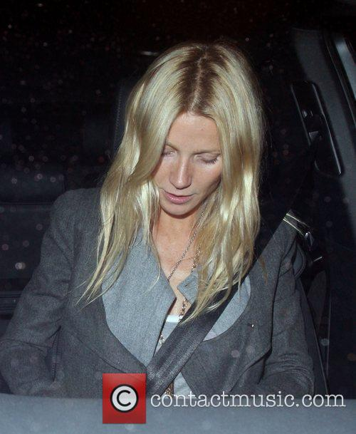 Gwyneth Paltrow is seen leaving Locanda Locatelli restaurant...