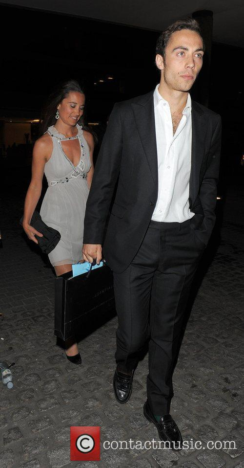 Pippa Middleton and a male companion The Reuben...