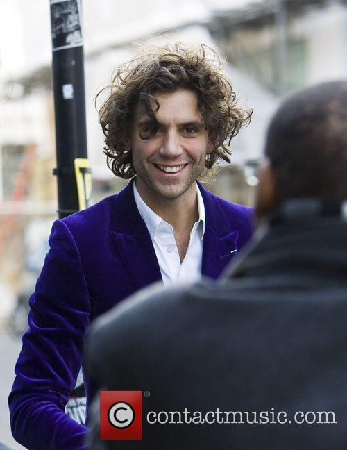 Mika arrives at the recording studio to record...