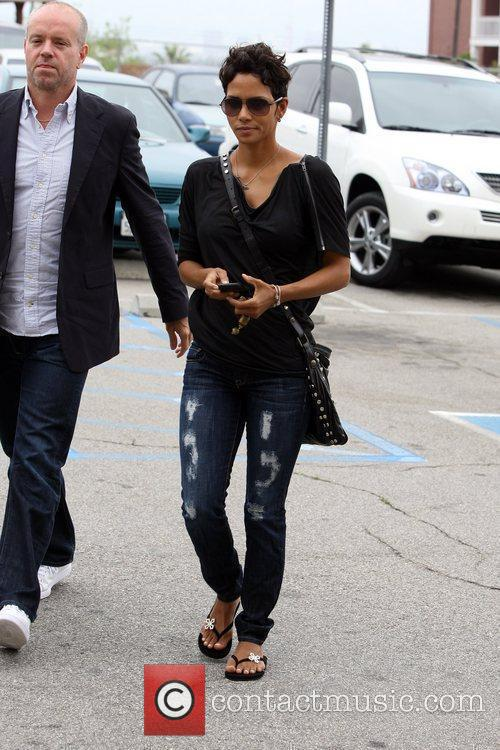 Halle Berry  seen arriving at a family...
