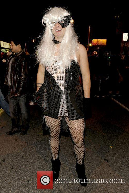 Party Goer Dressed As Lady Gaga and Celebration 5