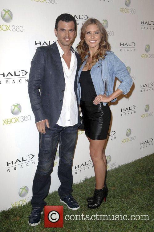Audrina Patridge and Tony Dovolani launch of XBox...