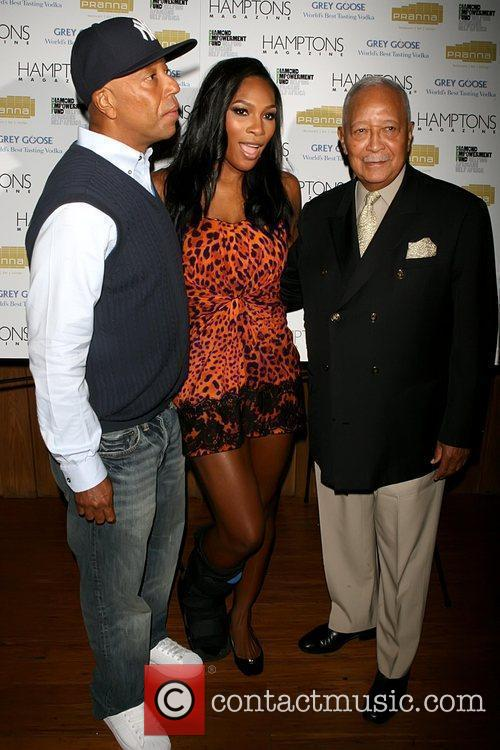 Russell Simmons, Mayor David Dinkins and Serena Williams 2
