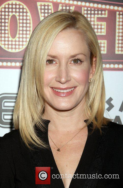 Angela Kinsey arrive to the The Hangover DVD...
