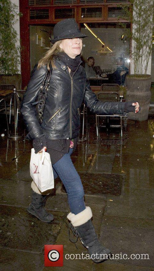 Arriving at the Noel Coward theatre where she...