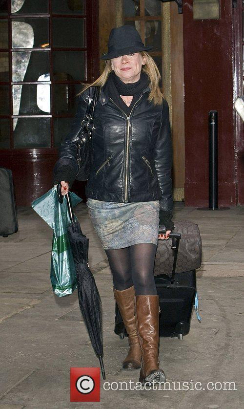 Hannah Waterman arrives at the Noel Coward Theatre...