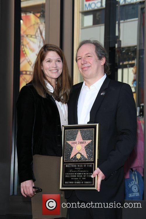 Hans Zimmer and his wife Suzanne Zimmer at...