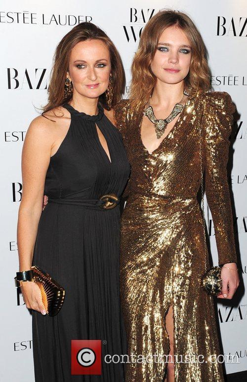 Natalie Vodianova (right),  Harper's Bazaar Woman of...