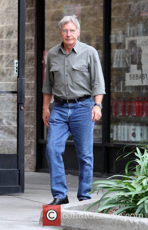 Harrison Ford grabs a coffee in Beverly Hills...