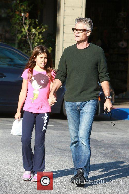 Harry Hamlin, 58, and his daughter, Delilah, 11,...