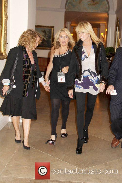 Dina Lohan arriving with her lawyer, Stephanie Ovadia...