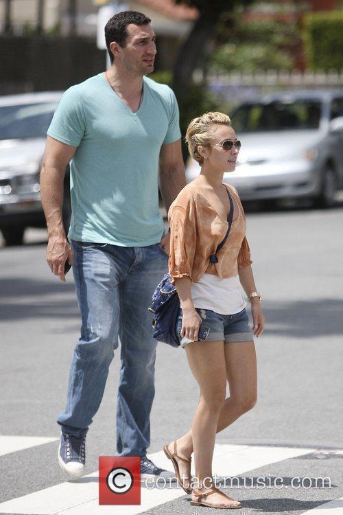 'Heroes' star Hayden Panettiere and boyfriend Wladimir Klitschko...