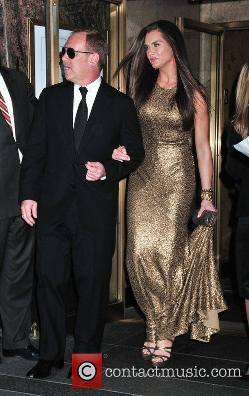 Michael Kors and Brooke Shields leaving the Carlyle...